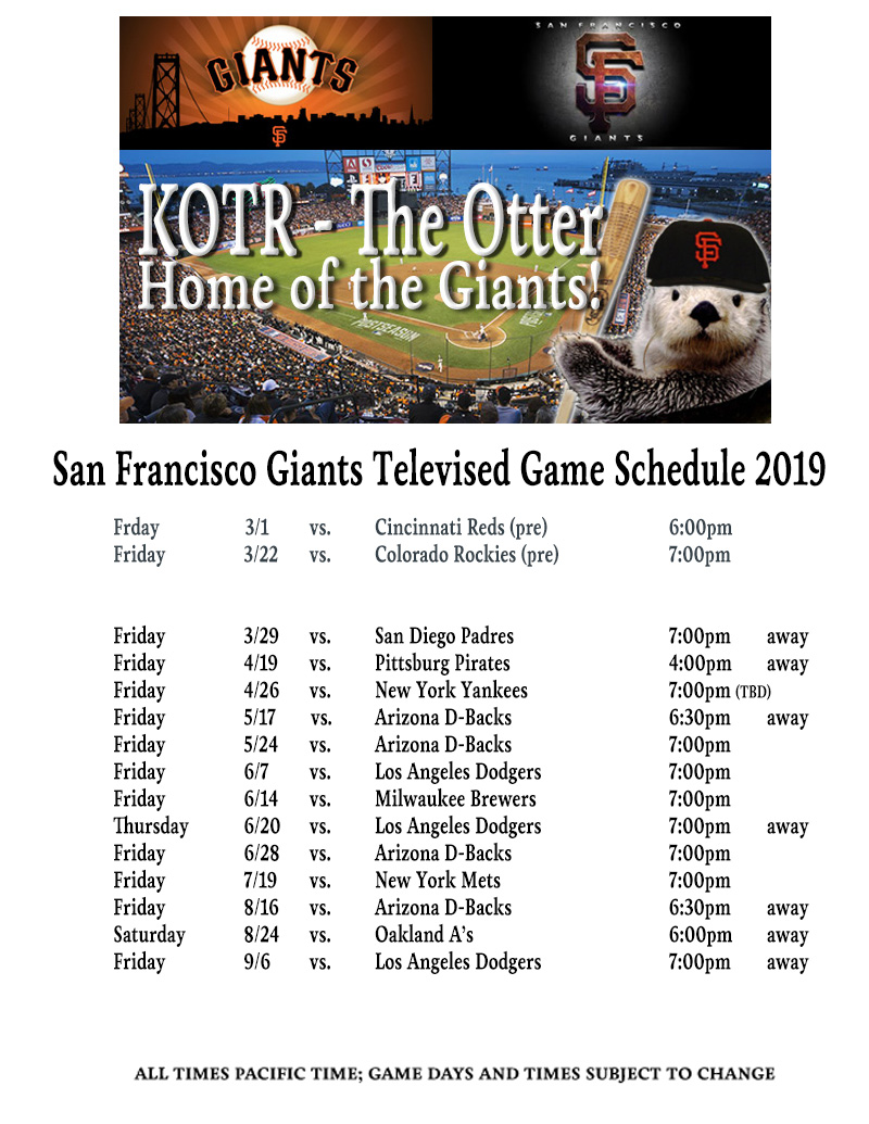 KOTR-TV: Giants Schedule